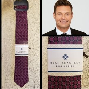 NEW men RYAN SEACREST Distinction neck tie purple